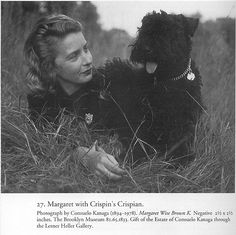 "Margaret Wise Brown, pictured with the model for Crispin's Crispian ""the dog who belonged to himself""."