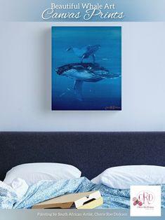 Underwater Art, Whale Art, Canvas Art, Canvas Prints, South African Artists, Blue Art, Print Store, Art Portfolio, Gifts For Teens