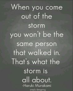 That's what the storm is about.