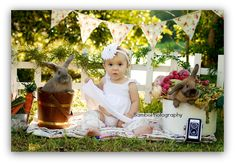 cute setup with the real bunnies...if they are?