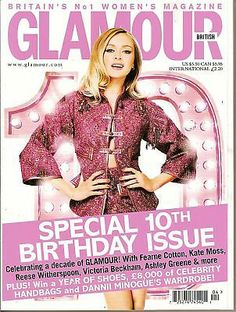 UK Glamour, Fearne Cotton, Ashley Greene,10th Birthday issue, April 2011~NEW British Magazines, Fearne Cotton, Reese Witherspoon, 10th Birthday, Kate Moss, Victoria Beckham, Glamour, Women's Fashion, Celebrities