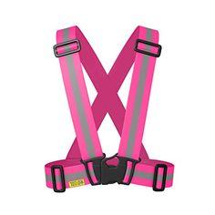 Reflective Vest - High Visibility for Running, Cycling, Walking. Easily adjustable, lightweight, elastic Reflective Belt Vest/Reflective Running Vest/Cycling Vest/Safety Vest. PINK L/XL - http://cyclingclothingforwomen.shopping-craze.com/index.php/2016/05/15/reflective-vest-high-visibility-for-running-cycling-walking-easily-adjustable-lightweight-elastic-reflective-belt-vestreflective-running-vestcycling-vestsafety-vest-pink-lxl/