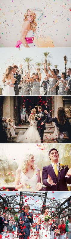 "Confetti and Flower Petals Wedding Exit Ideas   |   ""30 Creative Wedding Exit Ideas"" (http://www.praisewedding.com/archives/2775)"