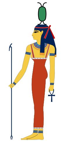 Neith -  was an early goddess in the Egyptian pantheon. She was the patron deity of Sais, where her cult was centered in the Western Nile Delta of Egypt and attested as early as the First Dynasty.[1] The Ancient Egyptian name of this city was Zau.