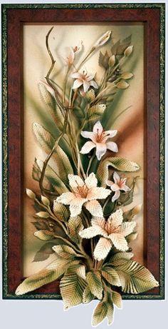 . Clay Wall Art, 3d Wall Art, Mural Art, Clay Art, Diy Flowers, Crochet Flowers, Paper Flowers, Picture Frame Wreath, Crochet Wall Art