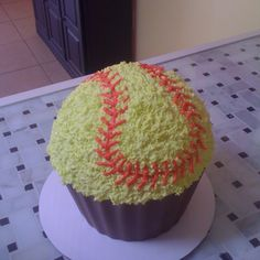 Colossal softball cupcake from Simply Cupcakes of Somerset