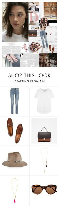 """""""If you want to be happy, be... by Leo Tolstoy"""" by valentina-back ❤ liked on Polyvore featuring INC International Concepts, Joie, Elle, MiH Jeans, Madewell, Gucci, Zara, Eugenia Kim, Chloé and Illesteva"""