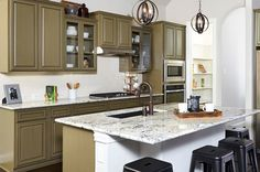 Love this countertop...New Homes for Sale – Home Construction – Gehan Homes | Harvard Floor Plan Gallery