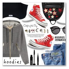 """""""Heads Up! Cute Hoodies"""" by dressedbyrose ❤ liked on Polyvore featuring Burberry, Madewell, Lord & Berry, Yves Saint Laurent, Converse, Frame Denim, Chiara Ferragni, Givenchy, Petit Bateau and Hoodies"""