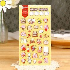 1Sheet Cute Baby Sheep Decorative Sticker Set Diary Album Label Sticker DIY Scrapbooking Stationery Stickers H1260 TIAMECH
