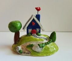 Hey, I found this really awesome Etsy listing at https://www.etsy.com/listing/238186658/little-blue-house-little-clay-house