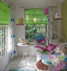 Cute colorful cottage room