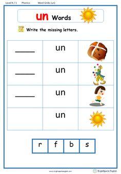 Word Family Word Grids – Page 2 – English Treasure Trove Preschool Phonics, Kindergarten Reading Activities, Alphabet Phonics, Phonics Words, Phonics Reading, Teaching Phonics, Phonics Worksheets, Phonics Rules, Preschool Writing