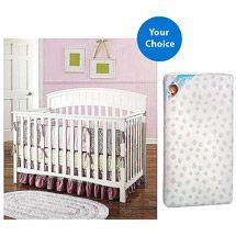 Walmart: Graco Charleston 4-in-1 Convertible Crib (Your Choice Finish) and Kolcraft Mattress Set