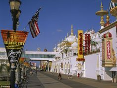 atlantic city boardwalk | Iconic: The Atlantic City Boardwalk is a hive of activity as visitors ...