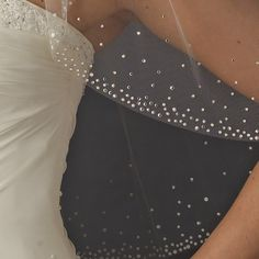 Ivory Veil With Swarovski Crystals
