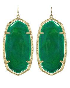Danielle Earrings in Green Agate - Kendra Scott Jewelry