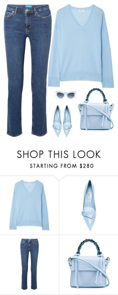 Untitled #464 by anaalex on Polyvore featuring Equipment, M.i.h Jeans, Prada and Elena Ghisellini