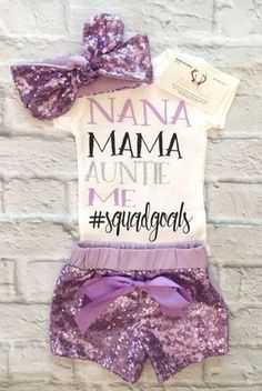3c6ee98a3 Baby Girl Clothes, #SQUADGOALS Bodysuits, Personalized Squadgoals  Bodysuits, #Squadgoals Shirts -
