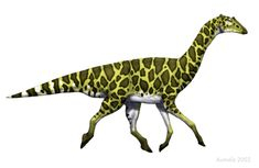 A Hadrosaurian Giraffe by Mette Aumala, Osmatar on deviantART | The Speculative Dinosaur Project (along the lines of Dougal Dixon's _The new dinosaurs: an alternative evolution_)