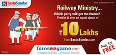 #Predict the future #RailwayMinistry in 16th #LokSabha Election.  http://www.foreseegame.com/User/GamePlay.aspx?GameID=0Wj0uNFf%2b%2b8Zyt%2fy4Q6WSA%3d%3d