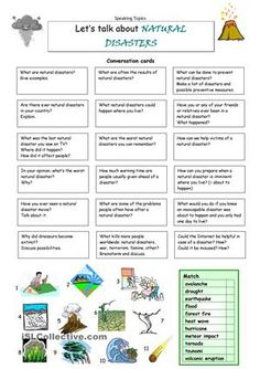 This worksheet contains 18 conversation cards and a matching exercise. The cards can be cut out if desired and be used as conversation questions. Can be used with both young learners and adults (elementary up). - ESL worksheets