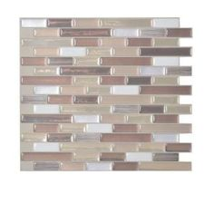 Smart Tiles, Muretto Durango 10.20 in. x 9.10 in. Peel and Stick Mosaic Decorative Wall Tile Backsplash in Beige (12-Piece), SM1053-12 at The Home Depot - Mobile