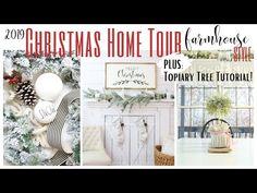 Christmas Home Tour 2019 ~ Farmhouse Style Home Tour ~ White Cottage Com...