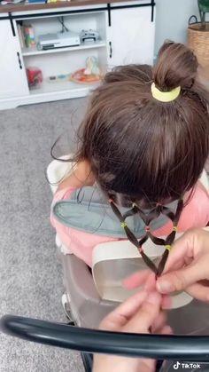 Cute Toddler Hairstyles, Easy Little Girl Hairstyles, Cute Girls Hairstyles, Easy Hairstyles For Long Hair, Toddler Hair Dos, Kids Braided Hairstyles, Short Hair, Girl Hair Dos, Hair Videos