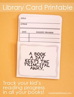 Track your kid - Click and print out the free library card printables on cardstock. Little Free Libraries, Free Library, Library Books, Library Cards, Library Ideas, Ex Libris, Free Printable Calendar, Free Printables, Printable Cards