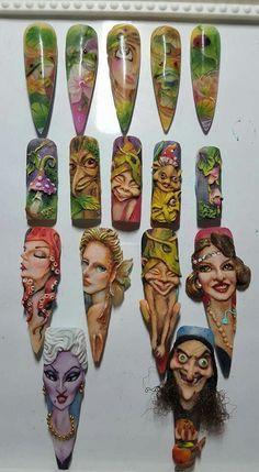 Very artistic nail art design