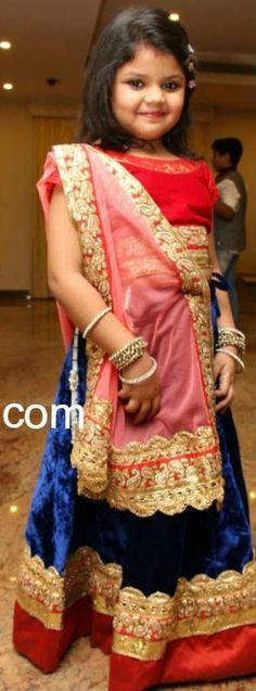 Girl in Cute LEhenga Kids Indian Wear, Shalwar Kameez, Future Baby, Kids Wear, Lehenga, Photo Ideas, Sari, Babies, Girls
