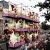 Amazing flower sculptures at annual Flower Parade in Zudert, Netherlands