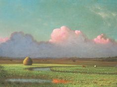 Sunlight and Shadow, the Newbury Marshes  Martin Johnson Heade, 1871-75, Oil on Canvas