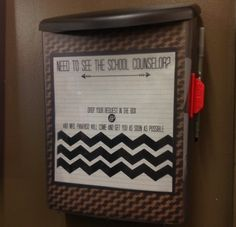 Scrapbook of a School Counselor- Self-Referral Box I just made something similar!