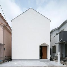 Minimalist Architecture, Modern Architecture, Minimal Home, Facade Design, Japanese House, Facade House, Curb Appeal, Ideal Home, Townhouse