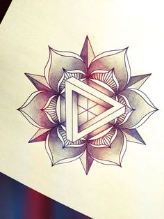 flower triangle tattoo - Google zoeken