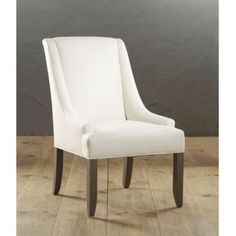 Gramercy Upholstered Chair - Ballard Designs - I wish I needed two upholstered chairs, these are beautiful. Dining Arm Chair, Dining Room Table, Dining Decor, Desk Chair, Upholstered Chairs, Chair Cushions, Ballard Designs, Headboards For Beds, Home Accessories