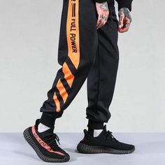 YYG Mens Gym Workout Color Block Zip Trim Casual Sweatpants Pants Trousers