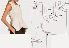 Necklines and arm holes