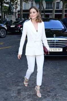 Olivia Palermo - Arriving at Vogue Dinner Party in Paris