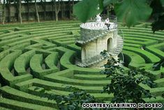 Il Labirinto Stra, Italy Outside Venice. Labyrinth of the Villa Pisani, created in 1720, has a rep for being the most difficult in the world to solve. Even Napoleon was floored by the challenge. The hedges are too high for anyone to peek over. You get a perfect view only once you've figured your way through to the center and ascended a spiral staircase to a turret. Fight your way out again to enjoy the beautiful 18th century palazzo overlooking a canal.
