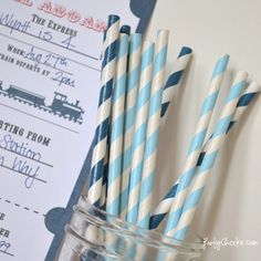 Free Train Party Printables Including invites and tahnk you labels