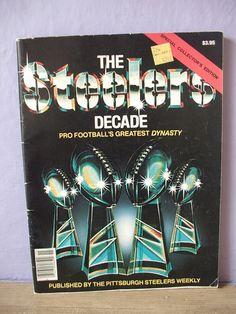 vintage Pittsburgh Steelers magazine book 1980 by ShoponSherman, $19.00
