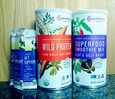 Essential Living Foods Diet Support + Wild Protein + Superfood Smoothie Mix Review  #organic #raw