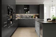 High Gloss Kitchen Cabinets, Kitchen Cabinet Styles, Replacement Kitchen Doors, Kitchen On A Budget, Kitchen Ideas, Kitchen Decor, Kitchens And Bedrooms, Diy Kitchens, Luxury Kitchens