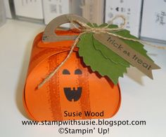 Stampin' Up!- A Halloween Treat made w the New Curvy Keepsakes Thinlit (box).