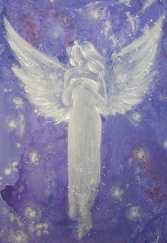 "Limited angel art photo ""guardian angel"" , modern angel painting, artwork, perfect also for picture frame"