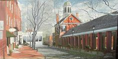 HeadHouse Market....15x30 Oil on canvas