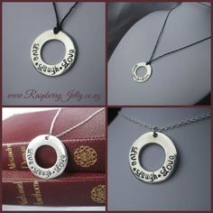 A 'Timeless' pendant by Raspberry Jelly
